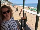 Susanne in der Strandbar